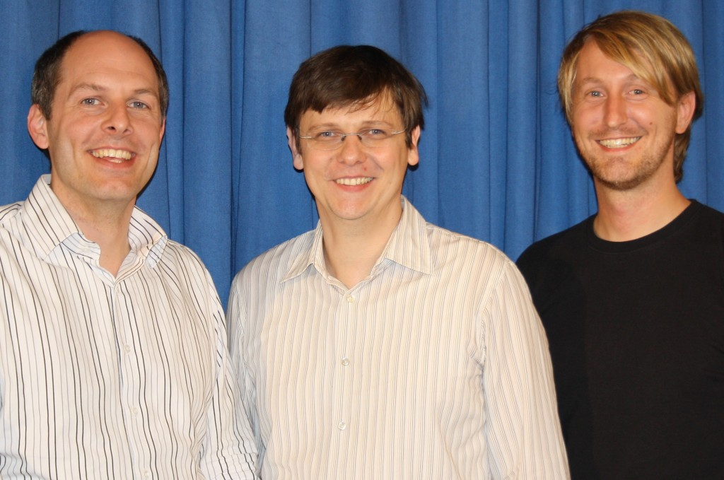 Dr. Andreas Schäfer, Dr. André Bergholz und Hannes Korte von Implisense