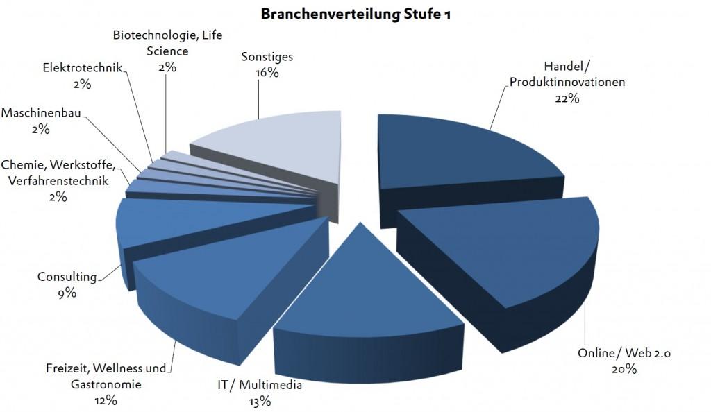 BPW 2013 Stufe 1 Branchenverteilung