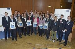 Glückliche Nominierte, Förder- und Hauptpreisträger bei der Preisverleihung in Sankt Augustin.