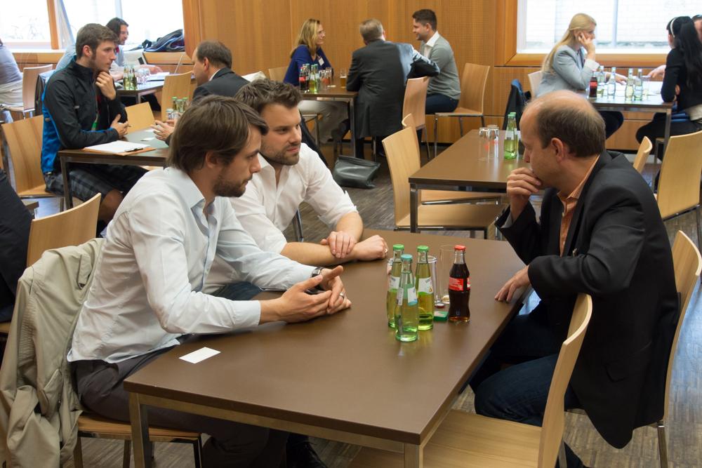 Roland Oberhoffer und Alexander Müller bei einem NUK-Coaching-Abend
