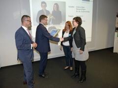 Fünf Gründerteams bekamen Haupt- und Förderpreise.