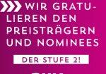 Sie haben es geschafft: Preisträger und Nominees Stufe 2