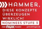 #NUKfragtnach: Lernen Sie die Nominees der Stufe 3 kennen!