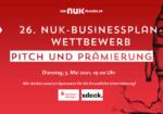 Es wird spannend! Die große online-Prämierungsfeier des 26. NUK-Businessplan-Wettbewerbs